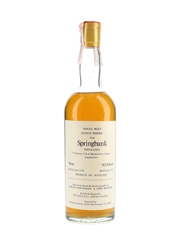 Springbank 1958 Bottled 1983 - Narsai's Restaurant & Corti Brothers - Signed Bottle 75cl / 46%
