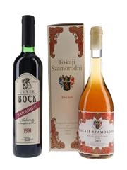 Bock Cuvèe 1991 & Tokaji Szamorodni 2003  2 x 50cl
