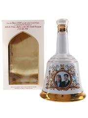 Bell's Ceramic Decanter Royal Wedding 1986 - Prince Andrew & Sarah Ferguson 75cl / 43%