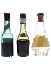 Assorted Apricot Brandy Liqueurs Bottled 1940s-1950s 3 x 5cl
