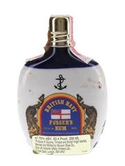 Pusser's Navy Rum Ceramic Hip Flask Bottled 1970s-1980s 20cl  / 47.75%