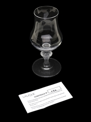 Macallan Glass By Lalique  14cm x 6.5cm