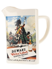 Dewar's White Label Ceramic Water Jug Diamond Concept Ceramics 18cm x 17cm x 10.5cm