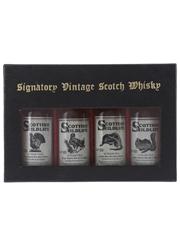 Signatory Vintage Scottish Wildlife Miniatures Balmenach, Mortlach, Port Ellen, Strathmill 4 x 5cl