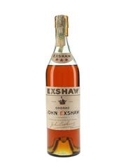 John Exshaw 3 Star Bottled 1960s 70cl