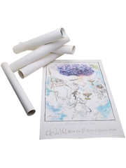 Ronald Searle Prints Clos Du Val & Taltarni 6 x 53.5cm x 35.5cm