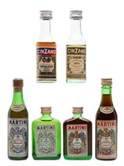 Assorted Cinzano & Martini  6 x 5cl