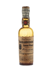Highland Queen 10 Year Old Vatted Scotch Whisky Bottled 1920s-1930s - Macdonald & Muir 5cl