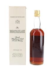 Macallan 1963 Bottled 1980s 75cl / 43%