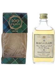 Macallan 10 Year Old 100 Proof Bottled 1970s 4cl / 57%