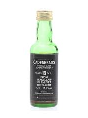 Macallan Glenlivet 18 Year Old Bottled 1980s - Cadenhead's 5cl / 54.9%