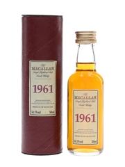 Macallan 1961 Bottled 2001 5cl / 54.1%