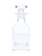 Dewar's White Label Crystal Decanter With Stopper  12cm x 5cm