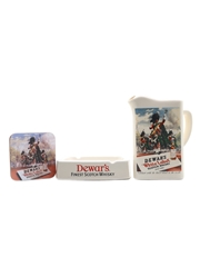 Dewar's White Label Ashtray, Coaster & Water Jug