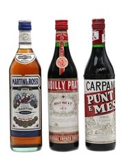 Martini Bianco, Noilly Prat & Carpano Punt e Mes