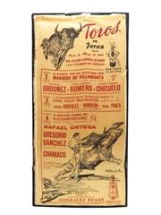 Gonzales Byass Bullfighting Publicity Sheet