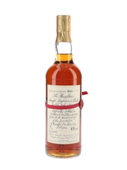 Macallan 1957 Handwritten Label