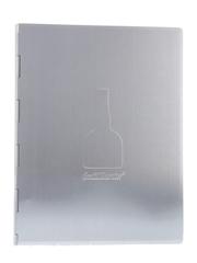 Grand Marnier Brushed Metal Cocktail Recipe Binder
