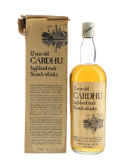 Cardhu 12 Year Old Bottled 1970s - Duty Free 100cl / 43.4%