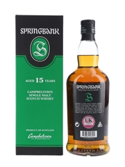 Springbank 15 Year Old Bottled 2018 70cl / 46%
