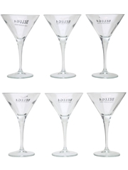 Beluga Martini Cocktail Glasses Bormioli