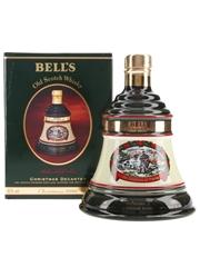 Bell's Christmas 1996 Ceramic Decanter