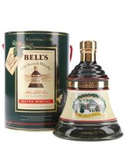 Bell's Christmas 1990 Ceramic Decanter