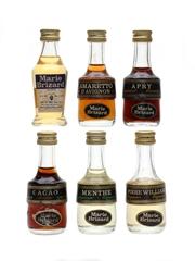 Marie Brizard Liqueurs Bottled 1970s 6 x 3cl