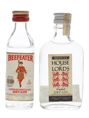 Beefeater & Booth's Gin Bottled 1970s 3.9cl & 4.7cl