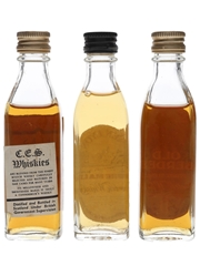 Ces, Glen Lyon & Old Aberdeen Bottled 1960s-1970s 3 x 4cl-4.7cl