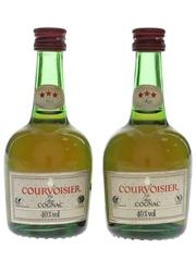 Courvoisier 3 Star Luxe Bottled 1980s 2 x 5cl / 40%