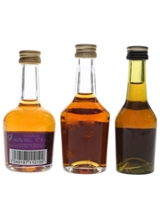Courvoisier, Hennessy & Martell  3 x 3cl-5cl / 40%