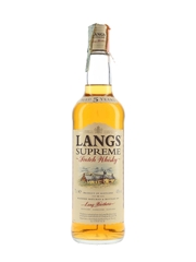 Langs Supreme 5 Year Old Bottled 1990s - Stock 70cl / 40%