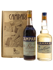 Campari Bitter & Cordial Bottled 1980s 2 x 75cl