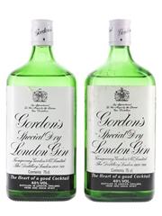 Gordon's Special Dry London Gin Bottled 1980s 2 x 75cl / 40%