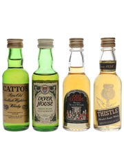 Assorted Blended Scotch Whisky Catto's, Inver House, Old Court & Thistle 4 x 5cl