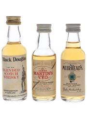 Black Douglas, James Martin's & Muirhead's  3 x 5cl