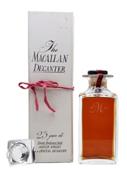 Macallan 1962 25 Year Old Tudor Crystal Decanter