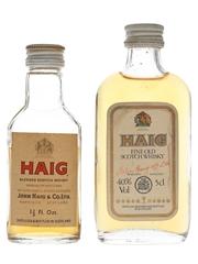 Haig Scotch Whisky Bottled 1970s & 1980s 4.7cl & 5cl