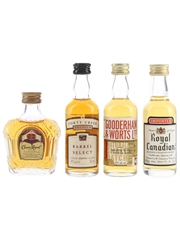 Crown Royal, Forty Creek, Gooderham & Worts And Royal Canadian  4 x 5cl