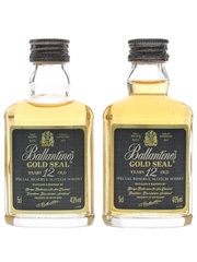 Ballantine's Gold Seal 12 Year Old  2 x 5cl