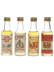 Scottish Collection The Coach Traveller's Dram, Gardener's Choice, Mother's Toddy & The Nineteenth Hole 4 x 5cl / 40%