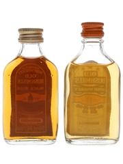 Old Bushmills Black Bush & 3 Star Bottled 1980s 2 x 5cl / 40%
