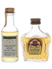 Canadian Mist & Crown Royal  4.7cl & 5cl / 40%