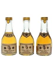 Camille Chapt & Co. 3 Star & Napoleon Cognac Bottled 1960s - Balossini Import 3 x 3cl / 40%