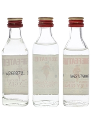 Beefeater London Dry Gin Bottled 1980s-1990s 3 x 5cl / 47%