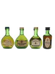 Duc De Maravat, Jean Caillaous, Larressingle & Marquis De Montesquiou Armagnac Bottled 1960s-1970s - Spirit 4 x 3cl