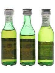 Pernod Fils & Pastis 51 Bottled 1970s-1980s 3 x 2.8cl / 45%