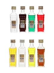 Costagliola Joseph Albert Flavoured Liqueurs Anisetta, Caffe Sport, Certosa, Fragola, Goccia D'Oro, Maraschino, Millefiori, Prunella 8 x 3cl / 29%