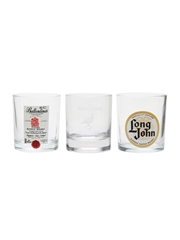 Assorted Whisky Tumblers Ballantine's, Famous Grouse, Long John